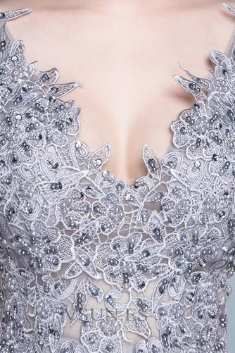 Vestido de dama de honor Encaje Natural Corte-A Falta primavera Elegante - Página 4