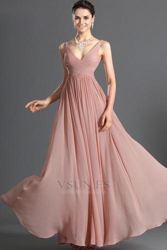 Vestido de noche Blusa plisada Plisado Cremallera Corte-A Sin mangas - Página 3