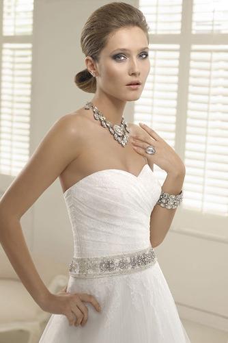 Vestido de novia Corte-A Escote Corazón Fuera de casa Verano Natural - Página 3
