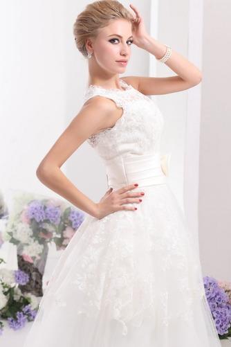 Vestido de novia Hasta el Tobillo Lazos tul Espalda medio descubierto - Página 6