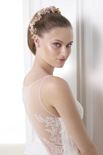 Vestido de novia Escote en V Fuera de casa Otoño Natural Corte Sirena - Página 3
