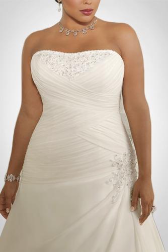 Vestido de novia Gasa Plisado Corte-A Cordón Sala Cintura Baja - Página 2