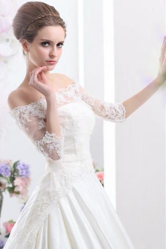 Vestido de novia Clasicos Cordón Mangas Illusion Sala Escote con Hombros caídos - Página 5