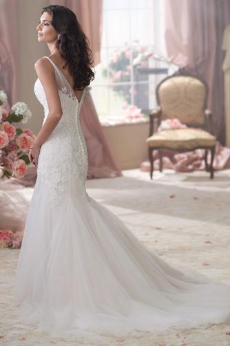 Vestido de novia Espalda medio descubierto Otoño Natural Cola Capilla - Página 2