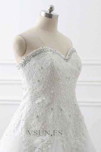 Vestido de novia Corte-A tul Cola Catedral Rectángulo Sin mangas Formal - Página 5