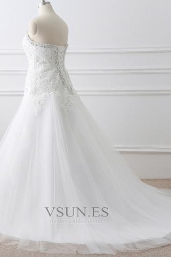 Vestido de novia Corte-A tul Cola Catedral Rectángulo Sin mangas Formal - Página 3