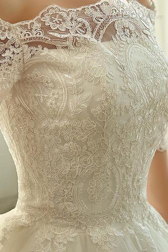 Vestido de novia Clasicos Mangas Illusion Otoño Cordón Recatada Corte princesa - Página 4