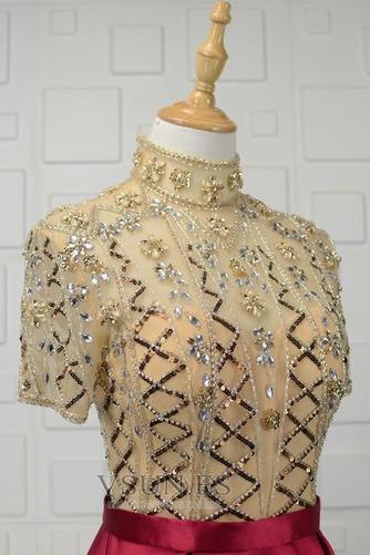 Vestido de noche Natural Escote con cuello Alto Corpiño Acentuado con Perla - Página 4