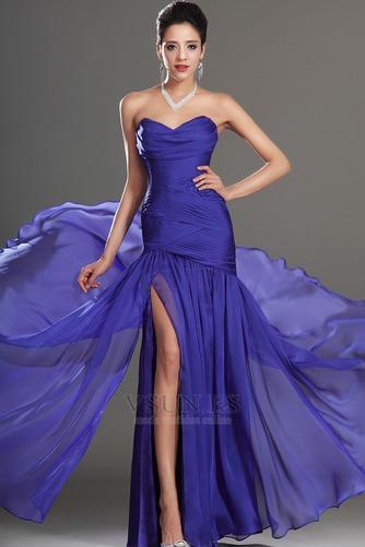 Vestido de fiesta Glamouroso azul medianoche Sin tirantes Hasta el suelo - Página 2