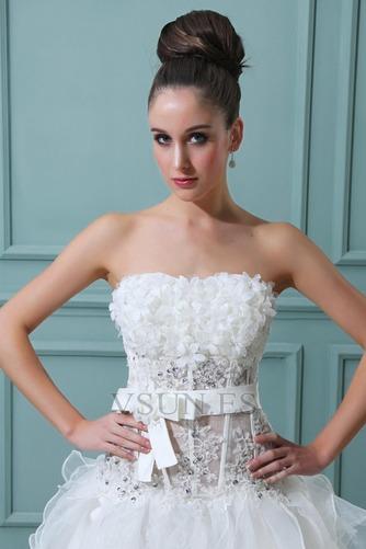Vestido de novia Sin tirantes Manzana Asimétrico Dobladillo Cintura Baja - Página 5