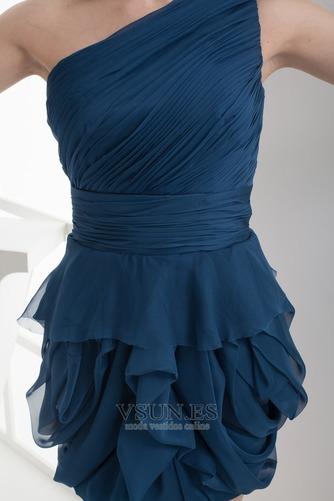Vestido de fiesta Corto Falta Corte Recto Sencillo Espalda medio descubierto - Página 5