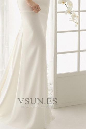 Vestido de novia Botón Escote con Hombros caídos Natural Verano Cola Barriba - Página 4