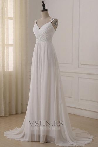 Vestido de novia Elegante Espalda Descubierta Sin mangas Plisado Fuera de casa - Página 3