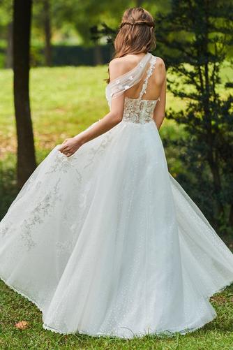 Vestido de novia Romántico Encaje Corte-A Sin mangas primavera Abalorio - Página 4