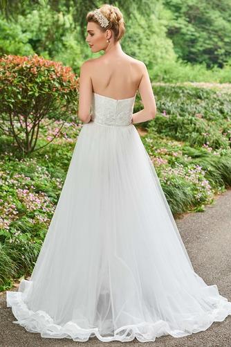 Vestido de novia Triángulo Invertido Otoño Sin tirantes Corte-A tul - Página 2