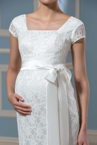 Vestido de novia Embarazadas Cremallera Imperio Cintura primavera Cola Barriba - Página 4