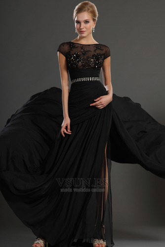 Vestidos de fiesta negros Espalda con ojo de cerradura Natural Transparente - Página 3