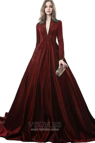 Vestido de novia Drapeado Formal Corpiño Acentuado con Perla Natural - Página 6