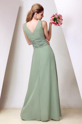 Vestido de dama de honor Corte-A Triángulo Invertido Elegante Cremallera Escote en V - Página 2