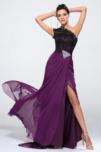 Vestido de noche Corte Sirena largo Asimétrico Estilo Delgado sexy Frontal Dividida - Página 4