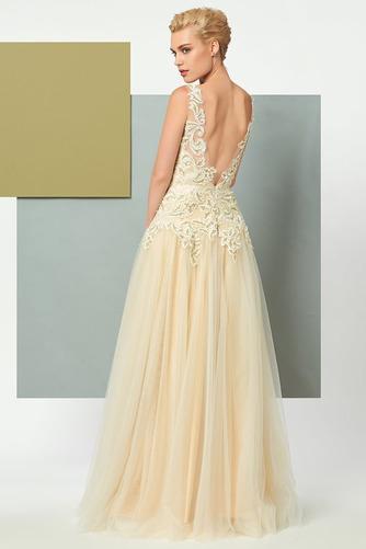 Vestido de noche Elegante Corte-A Natural Hasta el suelo Espalda Descubierta - Página 3