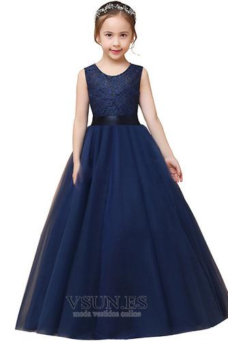Vestido niña ceremonia Corte-A Falta Joya Formal Arco Acentuado tul - Página 5