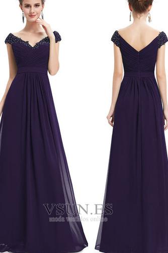 Vestido de noche Tallas grandes Escote en V Capa de encaje Corte-A Formal - Página 1