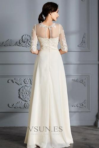 Vestido de novia Corte-A Apliques Capa de encaje Natural Falta Fuera de casa - Página 2