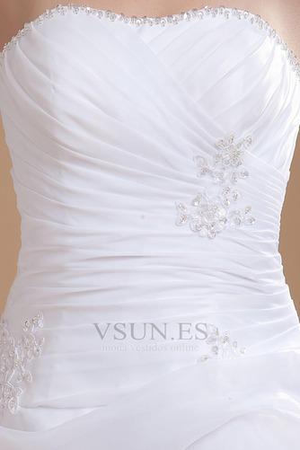 Vestido de novia informales Asimètrico Falta Blanco Espalda medio descubierto - Página 7