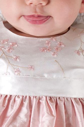 Vestido de Bautizo tafetán Manga corta Formal Joya Alto cubierto Bordado - Página 4