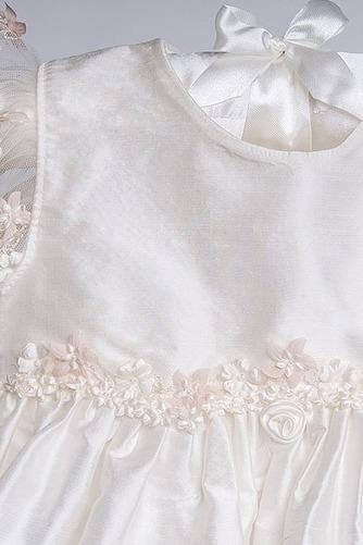 Vestido de Bautizo Alto cubierto Hasta el Tobillo Arco Acentuado Lazos - Página 5