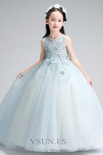 Vestido niña ceremonia Hasta el Tobillo Elegante Falta Natural Cremallera - Página 3