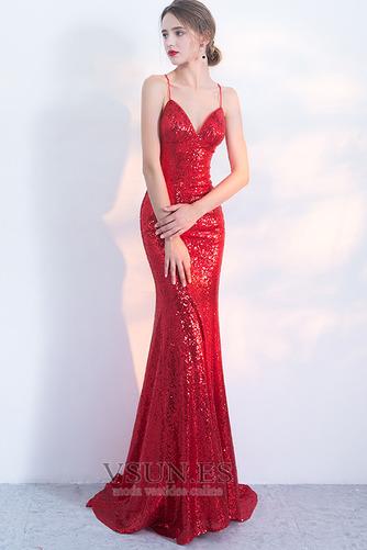 Vestido de fiesta Corpiño Con lentejuelas Corte Sirena Estrellado Natural - Página 5