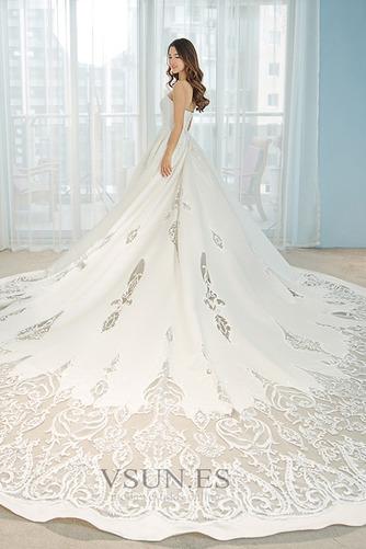 Vestido de novia Pera Sala Escote Corazón Natural Corte-A Formal - Página 2