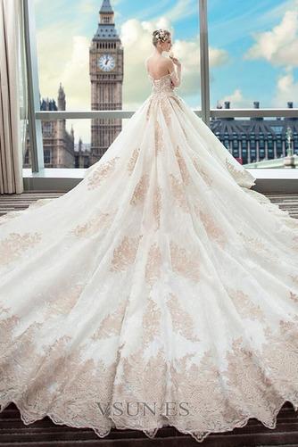 Vestido de novia Abalorio Tallas pequeñas Natural Escote con Hombros caídos - Página 2
