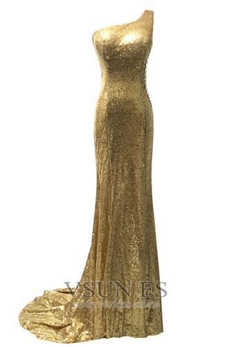 Vestido de fiesta largo Con lentejuelas Estrellado Corte Recto Espalda Descubierta - Página 2