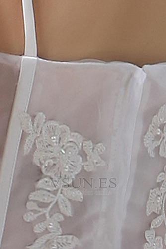 Vestido de novia Sin mangas Alto Bajo Escote de Tirantes Espaguetis - Página 7