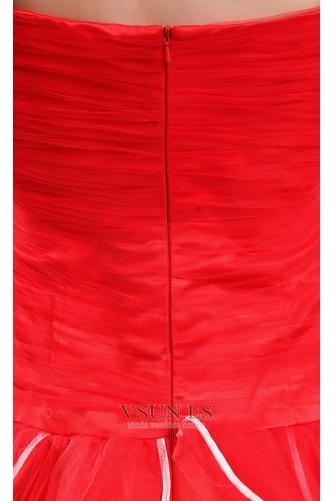 Vestido de fiesta Elegante Corte-A Organza Vasco Escalonado Sin mangas - Página 6