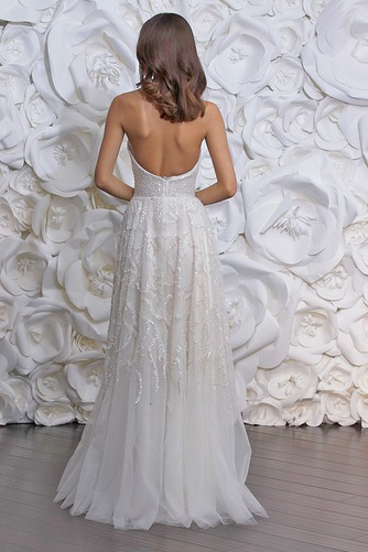 Vestido de novia Sencillo Playa Cremallera Corte-A Natural Apliques - Página 2