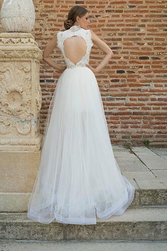 Vestido de novia Cremallera Corte-A Natural Apertura Frontal Cinturón de cuentas - Página 2