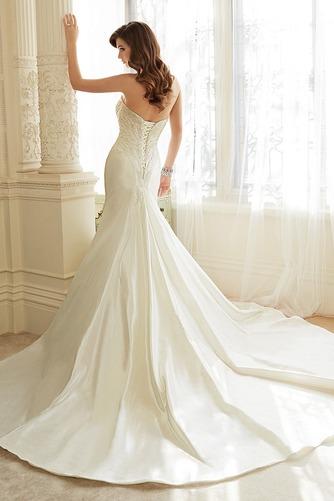 Vestido de novia Cola Catedral Escote Corazón Corte Sirena Cordón Sin mangas - Página 2