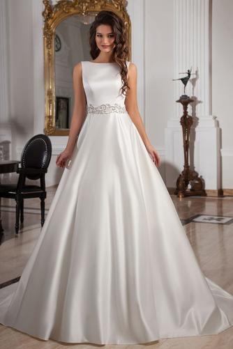 Vestido de novia Sala Cristal Cinturón de cuentas Espalda medio descubierto - Página 1