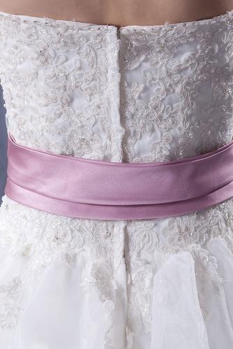 Vestido de novia Sin tirantes Corte-A Iglesia largo Sin mangas Encaje - Página 8