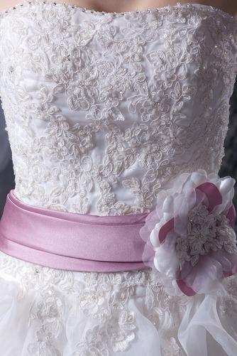 Vestido de novia Sin tirantes Corte-A Iglesia largo Sin mangas Encaje - Página 7