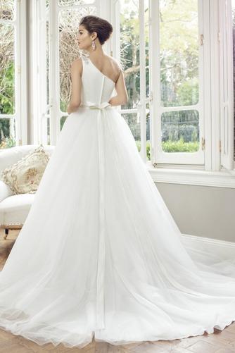 Vestido de novia Corte princesa Manga corta Sala Natural Cremallera - Página 2