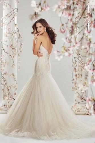 Vestido de novia Corte Sirena Sala Cristal largo Natural Sin mangas - Página 2