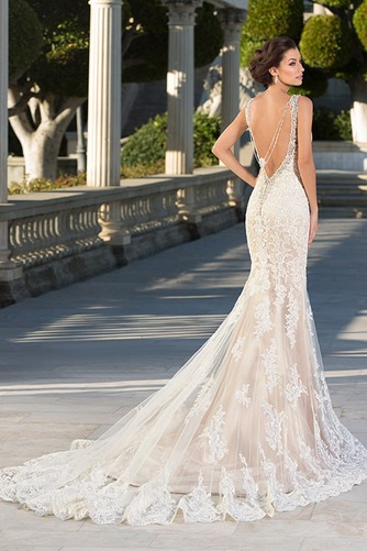 Vestido de novia Moderno Espalda Descubierta Corte Sirena tul primavera - Página 2