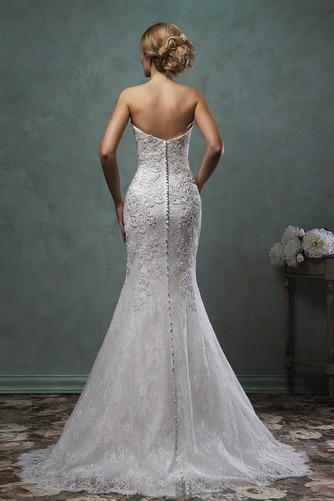 Vestido de novia Corte Sirena Natural Barco Apliques Otoño Alto cubierto - Página 4