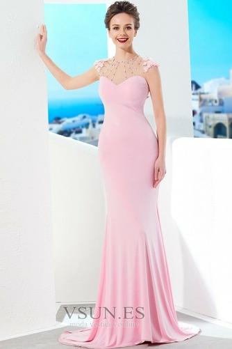 Vestido de noche largo Elegante Joya Natural Abalorio Corte Recto - Página 1