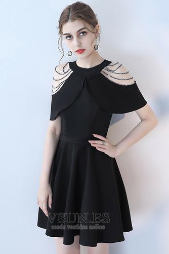 Vestido de cóctel Elegante Manga suelta Cremallera Verano Abalorio Joya - Página 7